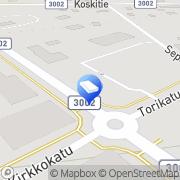 Kartta Hautaustoimisto Hämeenkyrön Mäkipää Ky Kyröskoski, Suomi