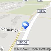 Kartta Kokkolan kaupunki Varahoitokoti Muksula Kälviä, Suomi