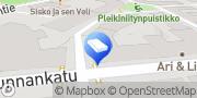 Kartta Sisustussuunnittelutoimisto Tuulipuu Tampere, Suomi
