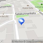 Kartta Hautaustoimisto Harri Vuori Tampere, Suomi
