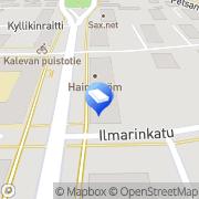 Kartta Hautaustoimisto Tampereen Hautauspalvelu Oy Tampere, Suomi