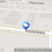 Kartta MTM Kiinteistö Oy Tampere, Suomi
