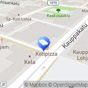 Kartta Lohjan Lukkopalvelu/Turvapoint Oy Lohja, Suomi