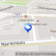 Kartta Uudenmaan Keskustieto Oy Lohja, Suomi