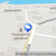 Kartta Kangasalan kaupunki Vesaniemen päiväkoti Kangasala, Suomi