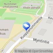 Kartta Vihdin kunta Kuoppanummen päiväkoti Nummela, Suomi