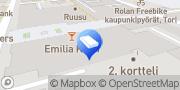 Kartta Etelä-Hämeen OP-Kiinteistökeskus Oy LKV Hämeenlinna, Suomi