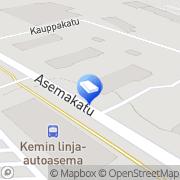 Kartta VVO-kotikeskus Kemi, Suomi