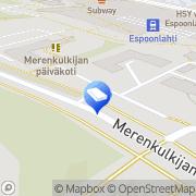 Kartta Espoon kaupunki Skepparbackens daghem Espoo, Suomi