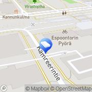 Kartta Espoon kaupunki Espoon keskuksen neuvola Espoo, Suomi