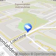 Kartta Espoon kaupunki Kongsbergs daghem Espoo, Suomi