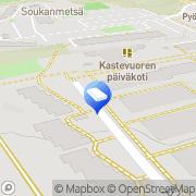 Kartta Espoon kaupunki Kastevuoren päiväkoti Espoo, Suomi