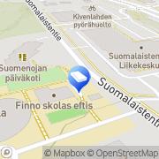Kartta Espoon kaupunki Finno daghem Espoo, Suomi