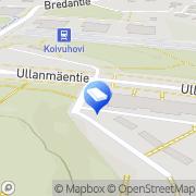 Kartta Espoon kaupunki Ullanmäen päiväkoti Espoo, Suomi