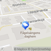 Kartta Espoon kaupunki Fågelsångens centraldaghem Espoo, Suomi