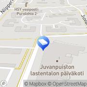 Kartta Espoon kaupunki Juvanpuiston lastentalon avoin päiväkoti Espoo, Suomi