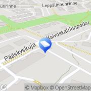 Kartta Espoon kaupunki Leppäsillan päiväkoti Espoo, Suomi