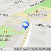 Kartta Vantaan kaupunki Vapaalan päiväkoti Vantaa, Suomi
