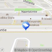Kartta SOL Pesulapalvelut Oy Munkkivuori Helsinki, Suomi
