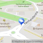 Kartta SOL Pesulapalvelut Oy Kannelmäki Helsinki, Suomi