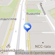 Kartta NCC Rakennus Oy Helsinki, Suomi