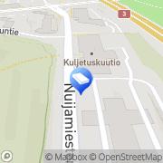 Kartta Autoliikenteen Työnantajaliitto ry Helsinki, Suomi