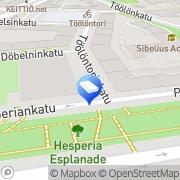 Kartta Asianajotoimisto Kallioniemi Jouni Oy Helsinki, Suomi