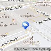 Kartta Asianajotoimisto Rouvari Risto Ky Helsinki, Suomi
