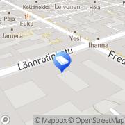 Kartta Kiinteistö Oy Lönnrotinkatu 18 Helsinki, Suomi
