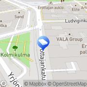 Kartta ACE LAW Ltd Helsinki, Suomi