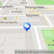 Kartta Arkkitehtuurityöhuone Kivinen Helsinki, Suomi