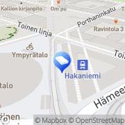 Kartta SOL Pesulapalvelut Oy Hakaniemi Helsinki, Suomi