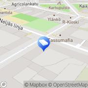 Kartta Subway Porthaninkatu Helsinki, Suomi