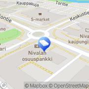 Kartta Kiinteistö Oy Nivalan Vuokrakodit Nivala, Suomi