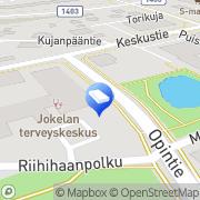 Kartta Tuusulan kunta Jokelan neuvola Jokela, Suomi