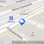 Kartta Niemikotisäätiö jälleenvuokrausyksikkö Helsinki, Suomi