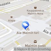 Kartta SOL Pesulapalvelut Oy Malmi Helsinki, Suomi