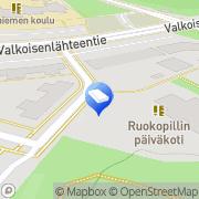 Kartta Vantaan kaupunki Ruokopillin päiväkoti Vantaa, Suomi