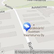 Kartta Tensicon Oy Insinööritoimisto Helsinki, Suomi
