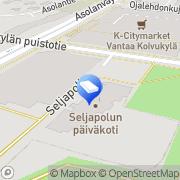 Kartta Vantaan kaupunki Seljapolun päiväkoti Vantaa, Suomi