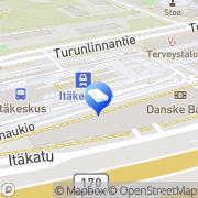 Kartta Sonera Kauppa Itäkeskus Helsinki, Suomi