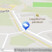 Kartta Vantaan kaupunki Leppäkorven päiväkoti Vantaa, Suomi