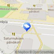 Kartta Vantaan kaupunki Saturnuksen päiväkoti Vantaa, Suomi