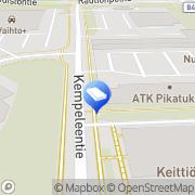 Kartta Mattopesula Pese-Itte Oy Oulu, Suomi