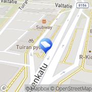 Kartta Tuiran Isännöitsijätoimisto Ay I ja E Kangas Oulu, Suomi