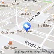 Kartta Sisustusarkkitehti Koponen Leena Oulu, Suomi