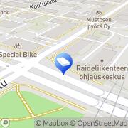 Kartta Autokoulu Oulun Pimeänajosimulaattori Oulu, Suomi