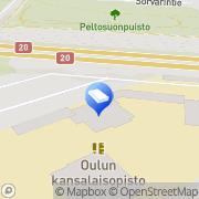 Kartta Päiväkoti Punavarpunen Oulu, Suomi