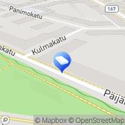 Kartta Palotähti avoin yhtiö Lahti, Suomi
