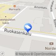 Kartta Kiinteistönvälitys Jaakola Rovaniemi, Suomi